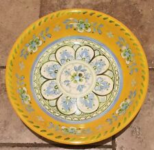 Le Cadeaux Madrid Yellow MELAMINE Large Serving Bowl Spanish Style