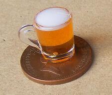 1:12 Handmade Full Tankard Of Beer Tumdee Dolls House Miniature Pub Drink HW