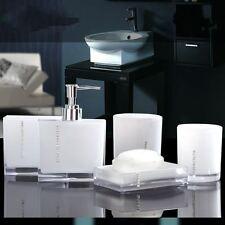5PCS Suit Acrylic Bathroom Accessories Set Bath Cup Toothbrush Holder Soap Dish