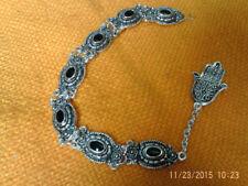 Gioielli etnici e tribali bracciale nero in argento