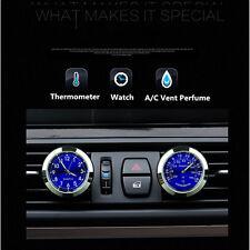 Nouvelle voiture horloge montre thermomètre a/c vent clip parfum recharge de parfum