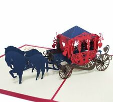 3D Pop Up Horse Drawn Carriage Gift Greeting Card - weddings and other occasions
