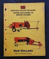 "1961 NEW HOLLAND ""MODEL SUPER HAYLINER 78 BALER"" PARTS CATALOG MANUAL"