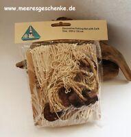 Deko Fischernetz 3 m² beige natur ca. 1,5 x 2 m mit 6 Korkbojen