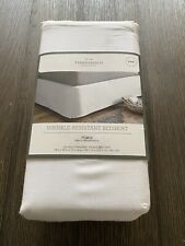 """New ListingThreshold King Sized Solid White Wrinkle Free 15"""" Drop Bed Skirt 78"""" x 80"""" New"""