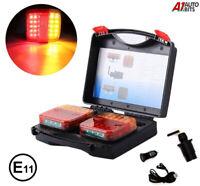 Led Rear Tail Lights Wireless & Magnet  E11 12v Trailer Caravan 5 Functions
