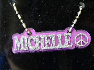Personalized Name Necklace Custom Name Plate Acrylic Mirror Name Necklace Laser