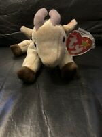 TY Beanie Baby Goatee The Goat With Tag Retired  DOB:11-4-98.  Multiple Errors.