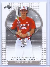 """BRANDON DIETER 2017 """"1ST EVER PRINTED"""" PERFECT GAME AAC ROOKIE CARD!!!"""