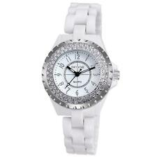 SKONE Women Waterproof Ceramic Bracelet Rhinestone Diamond Lady Wrist Watch Y3H7