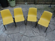 Mid Century Modern Child's Chair American Desk Manufacturing yellow molded
