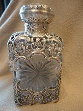 Sterling Silver Decanter VICTORIAN Liquor Flask Bottle Antique Vintage