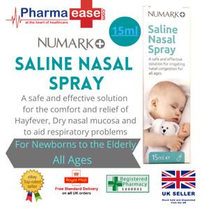 NUMARK Saline Nasal Spray for Newborns & All Ages   Blocked Nose & Hayfever 15ml