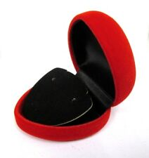 Clearance Job Lot-12 X Red Velvet Heart Ring Jewellery Gift Box-only 34p Each