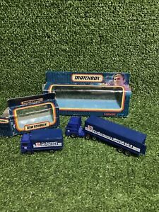 Matchbox Convoy CY-25 MB-20 Comma Performance Motor Oils Lorries 1987 - Boxed