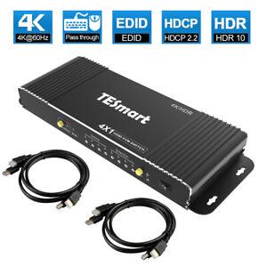 HDMI KVM Switch 4 Port TESmart 4K@60Hz Ultra HD 4x1 HDMI KVM Switch