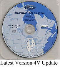 03 04 05 06 Ford Expedition Navigation Map Cover IL MI Partial States WI IN OH