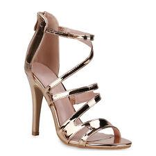 Damen Sandaletten High Heels Stiletto Party Absatzschuhe 833683 Trendy Neu