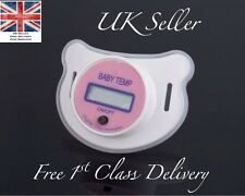 Pink Girl Temperature Dummy Pacifier UK LCD Display Medical Health Baby Child