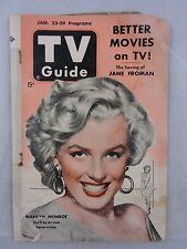 1953 TV Guide MARILYN MONROE Cover RARE, Jan. 23-29, New York