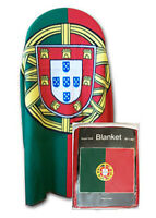 "Portugal Flag Fleece Blanket 50""x60"" NEW Portuguese Travel Throw Cover Euro Cup"