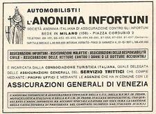 W9698 Assicurazione Anonima Infortuni - Pubblicità del 1939 - Old advertising