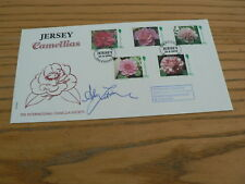 1995 Jersey First Day Cover, Camellias, signed Alan Titchmarsh, No 5 of 5