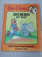 DUMBO AT BAT Walt Disney Fun-To-Read Library Vol 8 (1986 Hardcover) Bantam Books