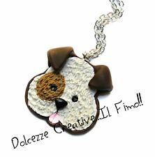 Collana Cagnolino - Cane - i love dog - in fimo e cernit - idea regalo handmade