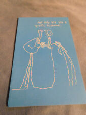 """New Vintage """"Happy Birthday To a Terrific Husband"""" Greeting Card"""