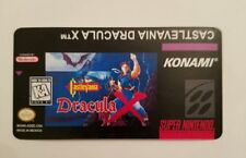 castlevania dracula x snes cartridge replacement label sticker precut