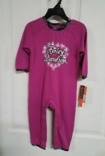 #236-237 NEW Harley-Davidson girls pink coverall, 18 months