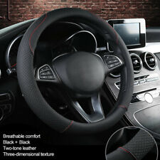 Auto PU Leather Steering Wheel Cover Comfortable Soft Anti-Slip Grip 39cm M Size