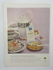 Original Print Ad 1956 KENT Cigarettes Are to Your Taste Too Vintage Photo