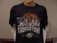SWEET Georgetown Hoyas Basketball '07 Final Four Men's Lg Blue T-shirt, NEW&NICE
