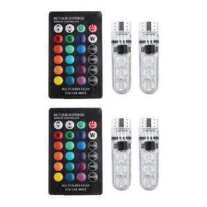 4x RGB T10 5050 LED RGB Bunte Farbbandfernbedienung