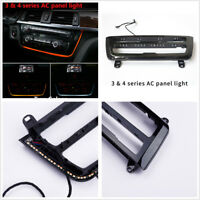 For BMW 3 Series F30 Dual Color LED Dashboard Console AC Panel Decorative Light