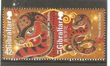 2013   GIBRALTAR - YEAR OF THE SNAKE - SG  1488 / 1489  -  UMM