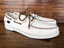 "Men's Allen Edmonds ""Fastball"" Baltimore Orioles Boat Shoes Size 11 D White"