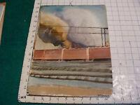 vintage Watercolor art: INDUSTRIAL: TRAIN YARD, SMOKE  signed K Shepard