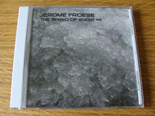 CD Single: Jerome Froese : The Speed Of Snow Limited 1000 Tangerine Dream