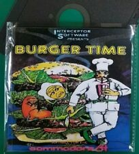 """BURGER TIME : Floppy Disc 5,25"""" Commodore 64, test ok C64 game (read before)"""