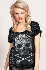 Cold Heart Baggy Top Skull & Keys size S (UK 10) Pastel Goth Alternative
