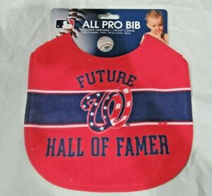 MLB Future Washington Nationals Hall of Famer Baby Infant ALL PRO BIB Red & Blue