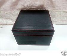 Shu Uemura Leather Black Makeup Brush Jewelry Bag Case