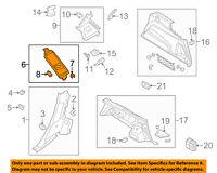AUDI OEM 17-18 Q7 INTERIOR-QUARTER PANEL-Upper Pillar Trim Right 4M0867288D5D3