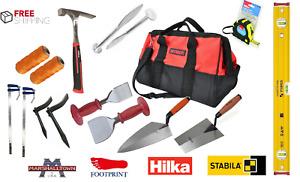 Bricklayer Tools set Tool Kit 12pc Stabila, Marshalltown, HILKA MEGA SET