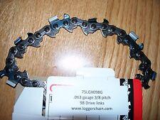 """1 75LGX098G 30"""" Oregon full chisel chainsaw chain  3/8 .063 gauge  98 DL 30 inch"""