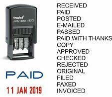 PAID RECEIVED DATE STAMP CHECKED POSTED E-MAILED COPY TRODAT 4850 SELF INKING