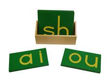 New Montessori Lower Case Double Sandpaper Letters